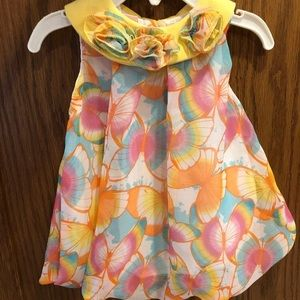 Butterfly onesie dress 3/6mo